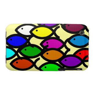Christian Fish Symbols - Rainbow School - iPhone 3 Case