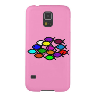 Christian Fish Symbols - Rainbow School - Case For Galaxy S5