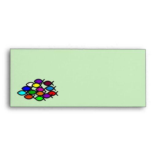 Christian Fish Symbols - Rainbow School - Envelopes