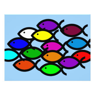 Christian Fish Symbols - Rainbow School - Flyer