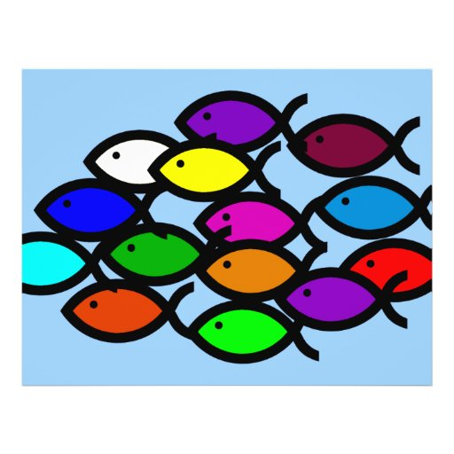 Christian Fish Symbols - Rainbow School - Flyers