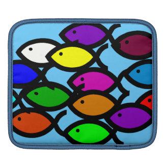 Christian Fish Symbols - Rainbow School - iPad Sleeves