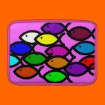 Christian Fish Symbols - Rainbow School - Sleeve For MacBook Air