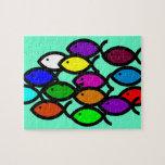 Christian Fish Symbols - Rainbow School - Jigsaw Puzzles
