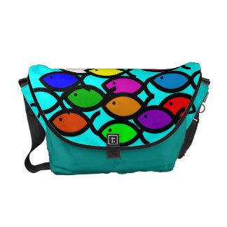 Christian Fish Symbols - Rainbow School - Messenger Bag