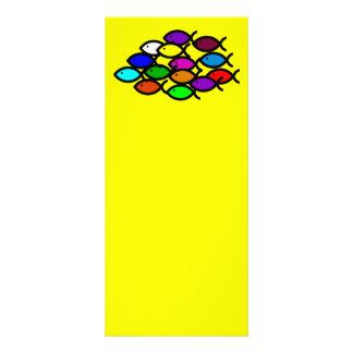 Christian Fish Symbols - Rainbow School - Rack Card