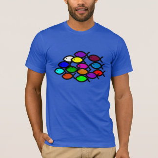 Christian Fish Symbols - Rainbow School - T-Shirt