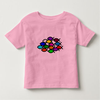 Christian Fish Symbols - Rainbow School - Toddler T-shirt