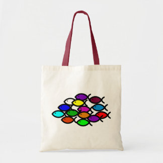Christian Fish Symbols - Rainbow School - Tote Bag