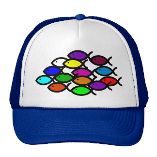 Christian Fish Symbols - Rainbow School - Trucker Hat