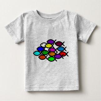 Christian Fish Symbols - Rainbow School - Tshirts