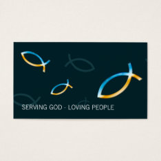 Christian Fishes Business Card at Zazzle