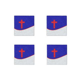 Christian Flag Inspired Stone Magnet