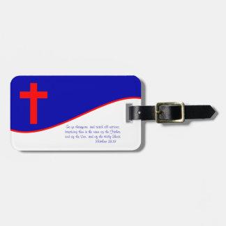 Christian Flag Inspired Luggage Tag