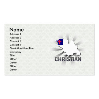 Christian Flag Map 2.0 Double-Sided Standard Business Cards (Pack Of 100)