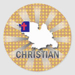 Christian Flag Map 2.0 Stickers
