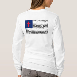 CHRISTIAN FLAG WITH 23RD PSALM T-Shirt
