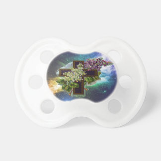 Christian Floral Cross Pacifiers