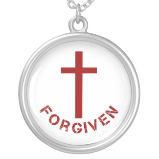 Christian Forgiven Red Cross and Text Design