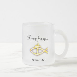 Christian Frosted Glass Coffee Mug