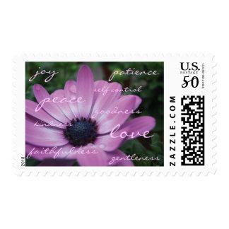 Christian Fruit of the Spirit Purple Daisy Stamp