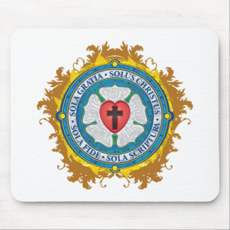 Christian Gift Luther Rose Jesus Cross God Angels Mouse Pad
