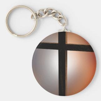 Christian gift wooden cross keychain
