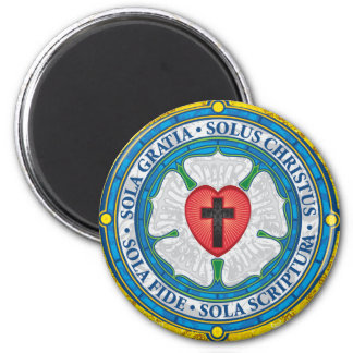 """""""CHRISTIAN GIFTS"""" Luther Rose Christian Jesus Lord Magnet"""