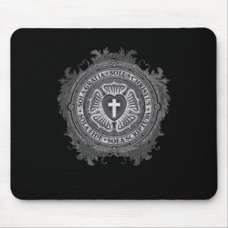 """""""CHRISTIAN GIFTS"""" Luther Rose Christian Jesus Lord Mouse Pad"""