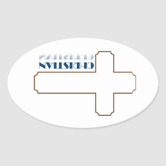 Christian Gifts Oval Sticker