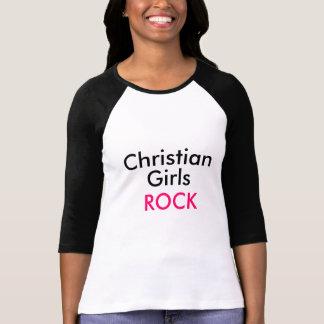 Christian Girls Rock Baseball Tee