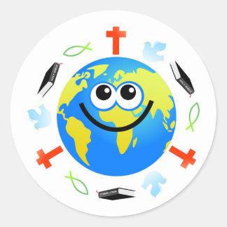 Christian Globe Classic Round Sticker