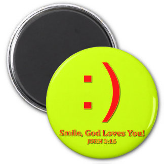 Christian God Love's You 2 Inch Round Magnet