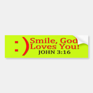 Christian God Love's You Bumper Stickers