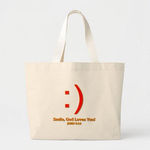 Christian God Love's You Jumbo Tote Bag