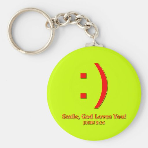 Christian God Love's You Keychain