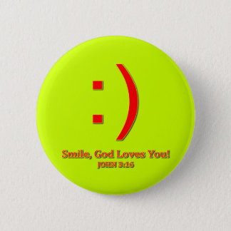 Christian God Love's You Pinback Button