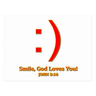 Christian God Love's You Postcard