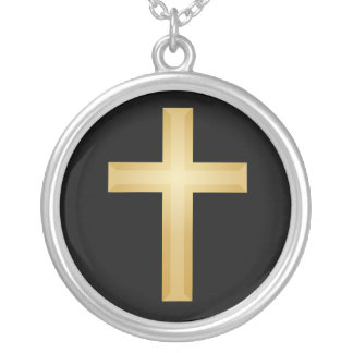 Christian Gold Cross Silver Plated Necklace