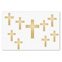 Christian Gold Cross Tissue Paper