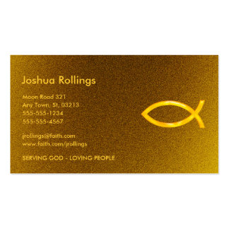 Christian | Golden Double-Sided Standard Business Cards (Pack Of 100)