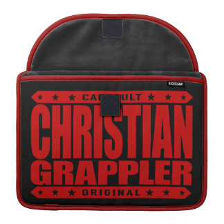 CHRISTIAN GRAPPLER - God Loves Brazilian Jiu-Jitsu Sleeve For MacBook Pro