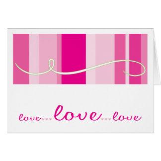 Christian greeting card: Love, Love, Love