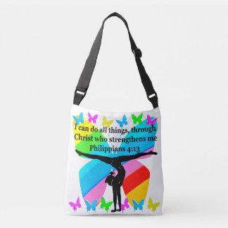 CHRISTIAN GYMNAST INSPIRATIONAL BIBLE DESIGN CROSSBODY BAG