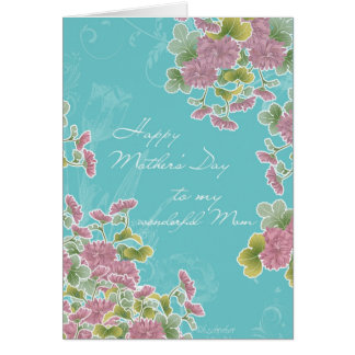 Christian Happy Mother's Day, chrysanthemum Card