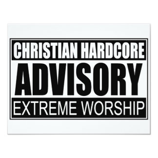 Christian Hardcore Advisory... Card