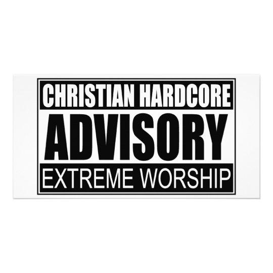 Christian Hardcore Advisory... Card