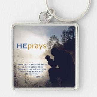 Christian HE PRAYS Keychain