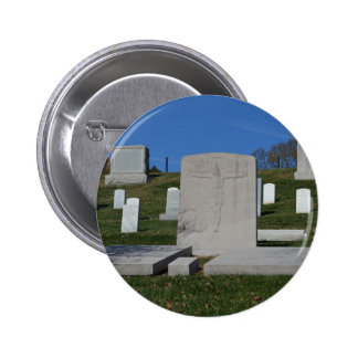 Christian Headstone Arlington Cemetery Pinback Buttons
