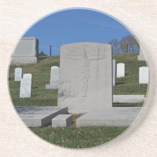 Christian Headstone Arlington Cemetery Coaster